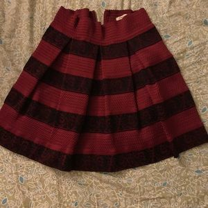 Burgundy Francesca's Miami Skirt
